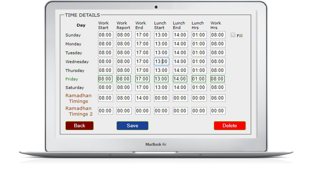 SKM Time Attendance Features