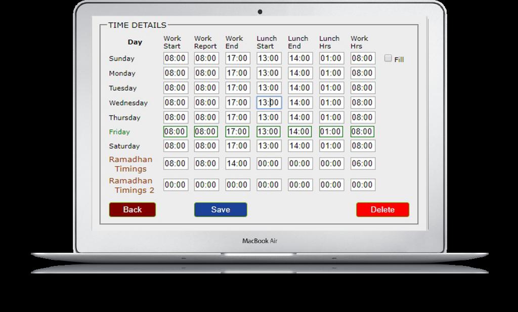 SKM Time Attendance Features